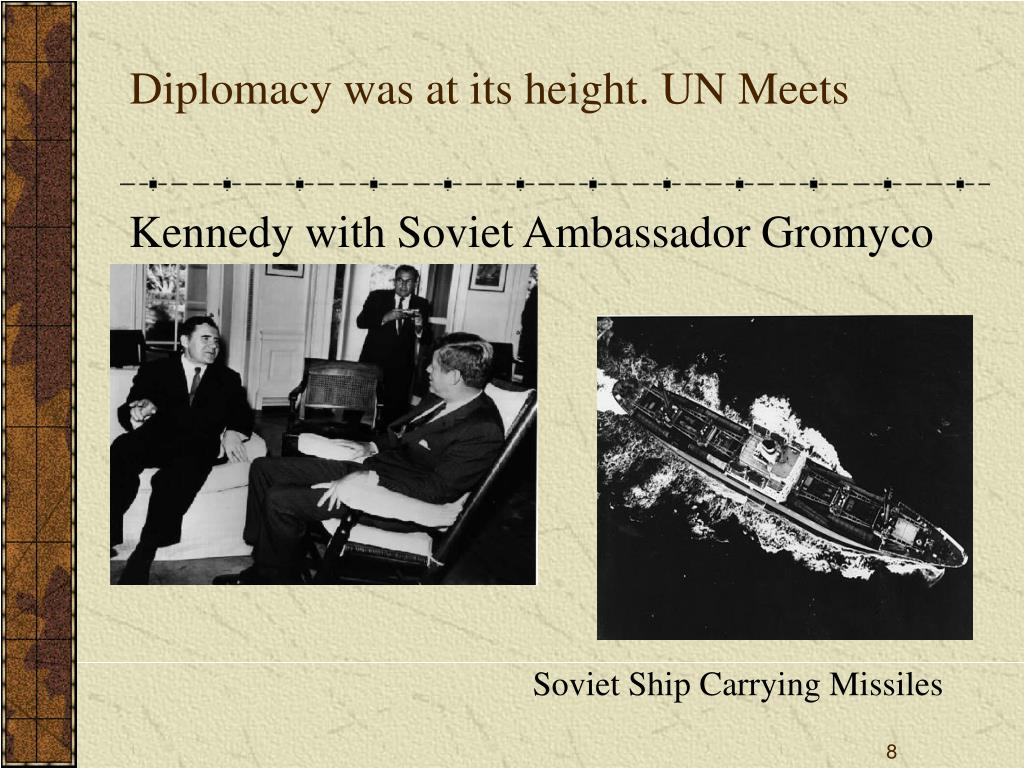 Diplomacy was at its height. UN Meets