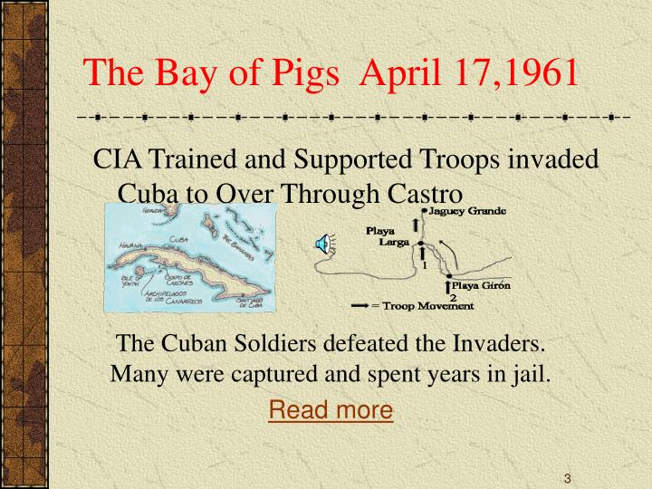 The bay of pigs april 17 1961