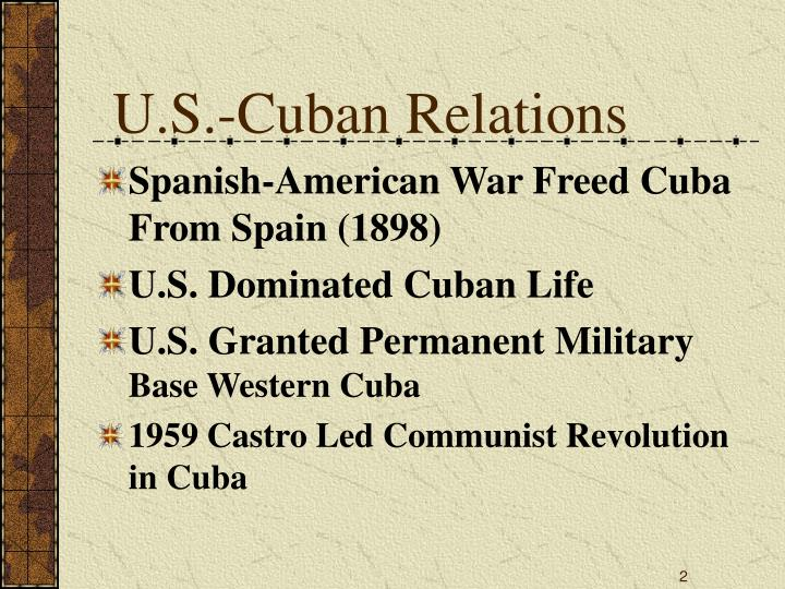 U s cuban relations l.jpg