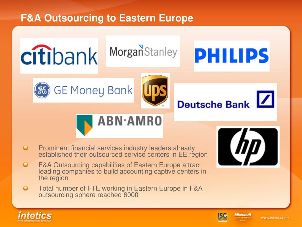 F&A Outsourcing to Eastern Europe