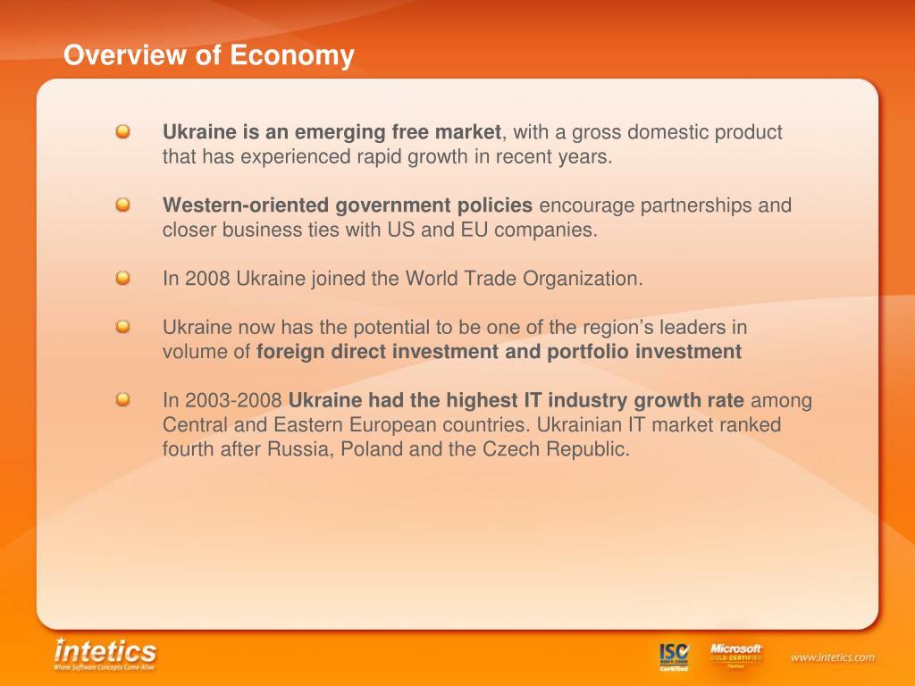Overview of Economy