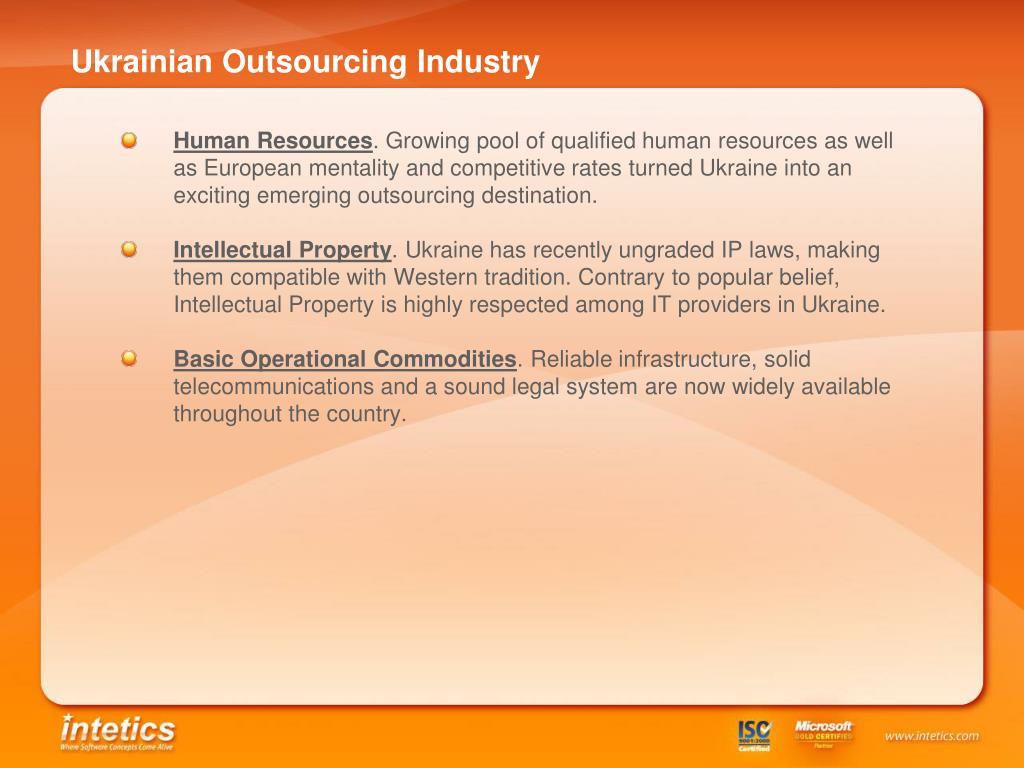 Ukrainian Outsourcing Industry
