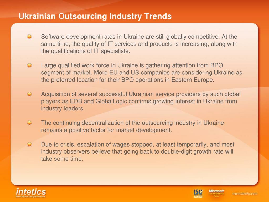 Ukrainian Outsourcing Industry Trends
