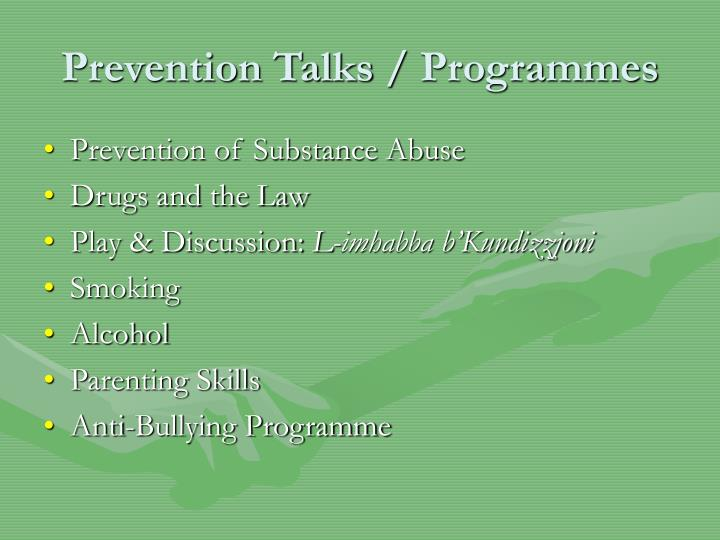 Prevention Talks