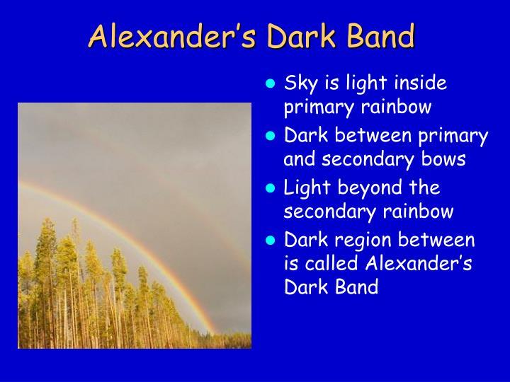 Alexander's Dark Band
