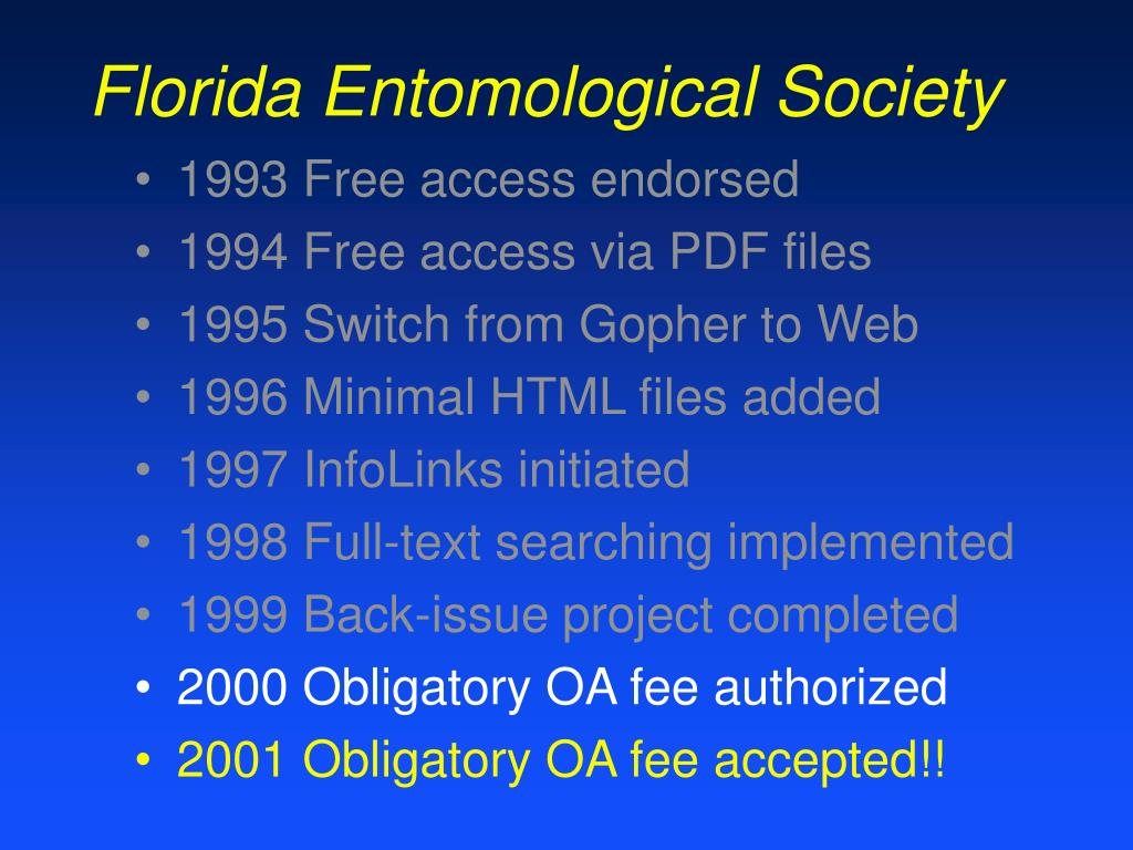 Florida Entomological Society