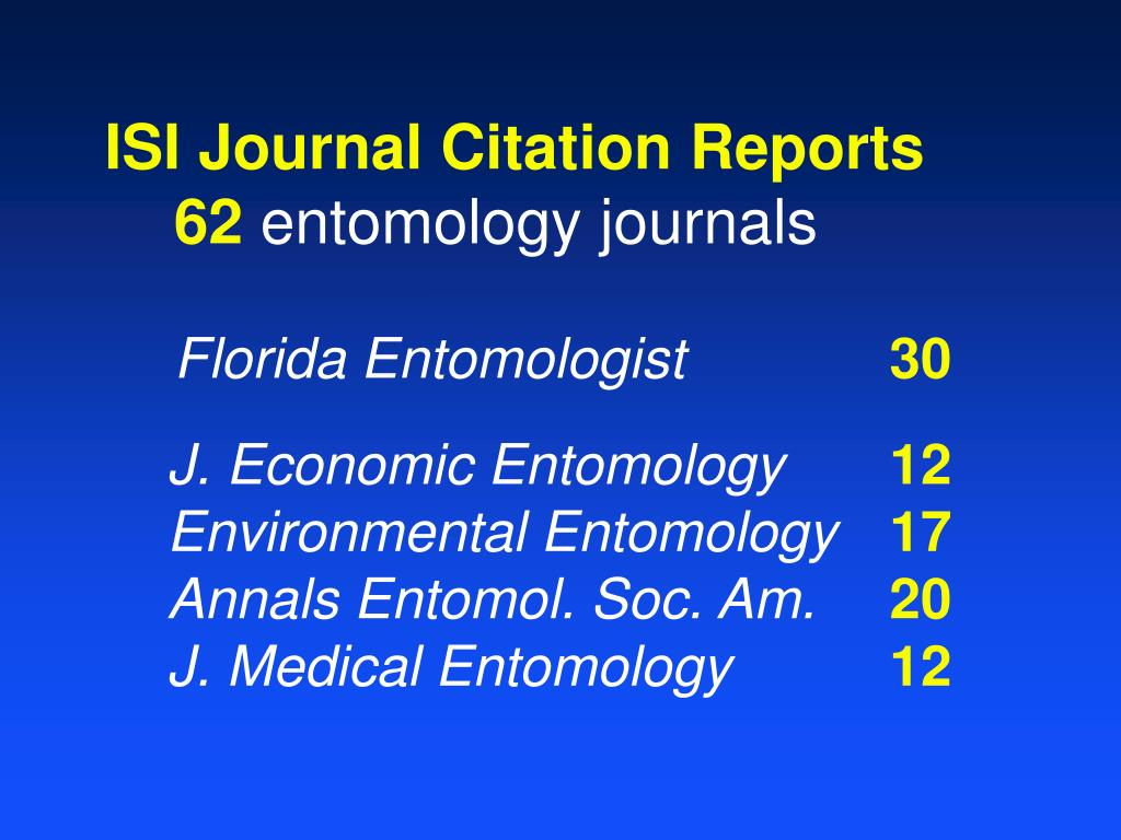 ISI Journal Citation Reports