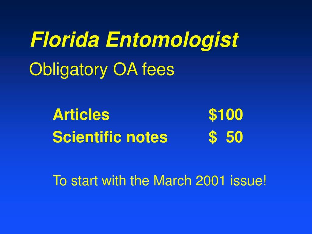 Florida Entomologist