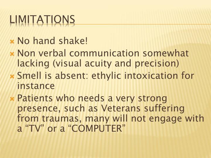 No hand shake!