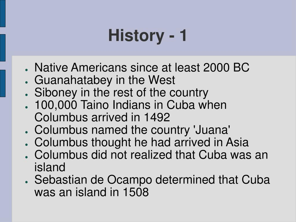 History - 1