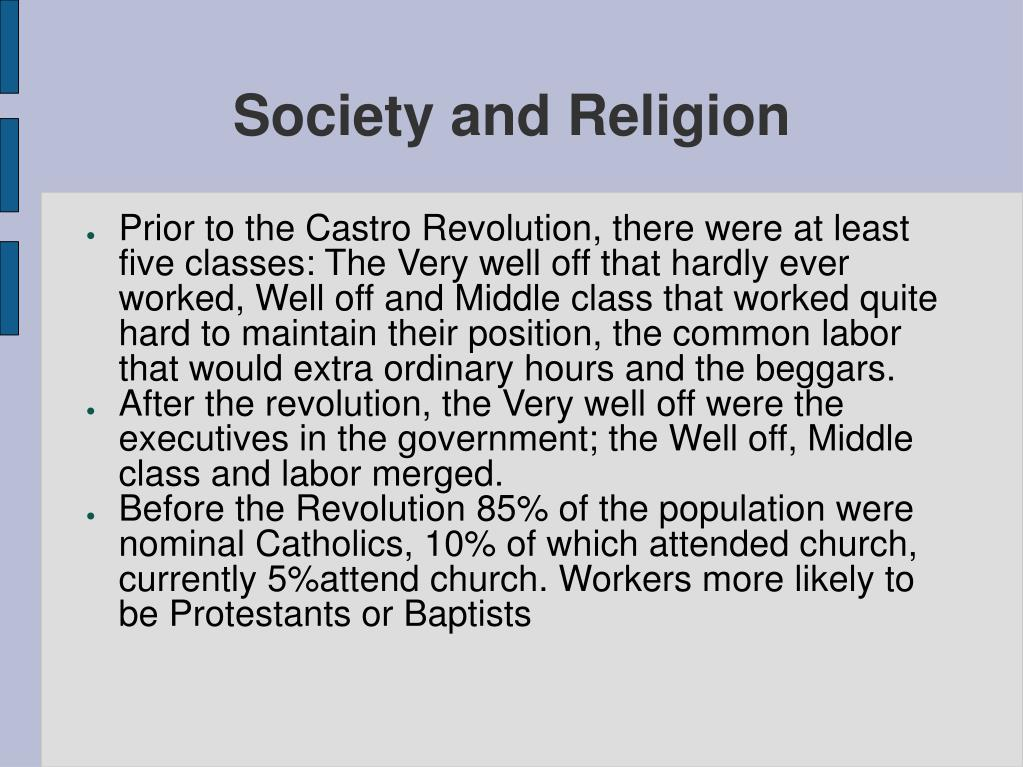 Society and Religion