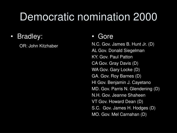 Democratic nomination 2000