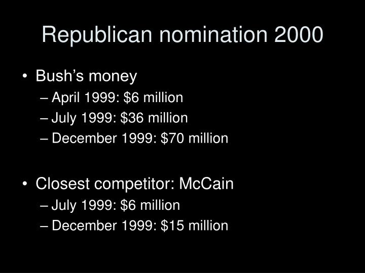 Republican nomination 2000