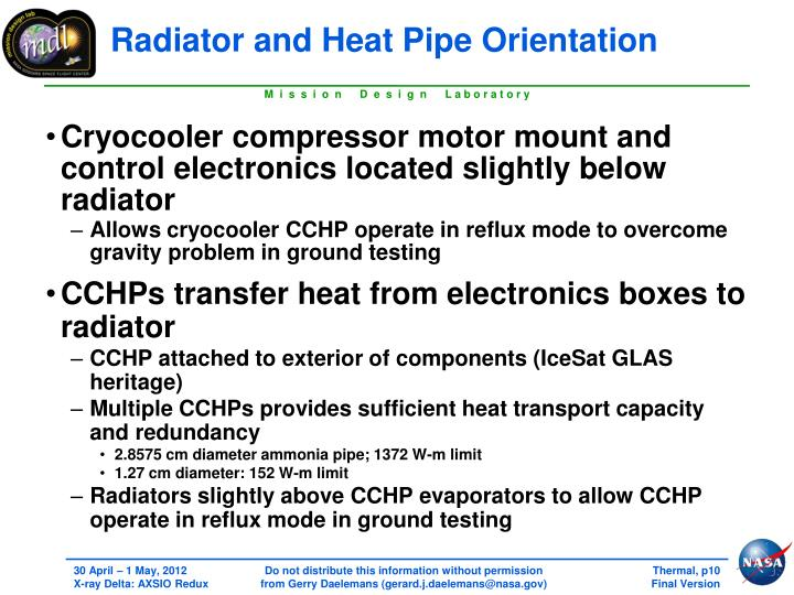 Radiator and Heat Pipe Orientation