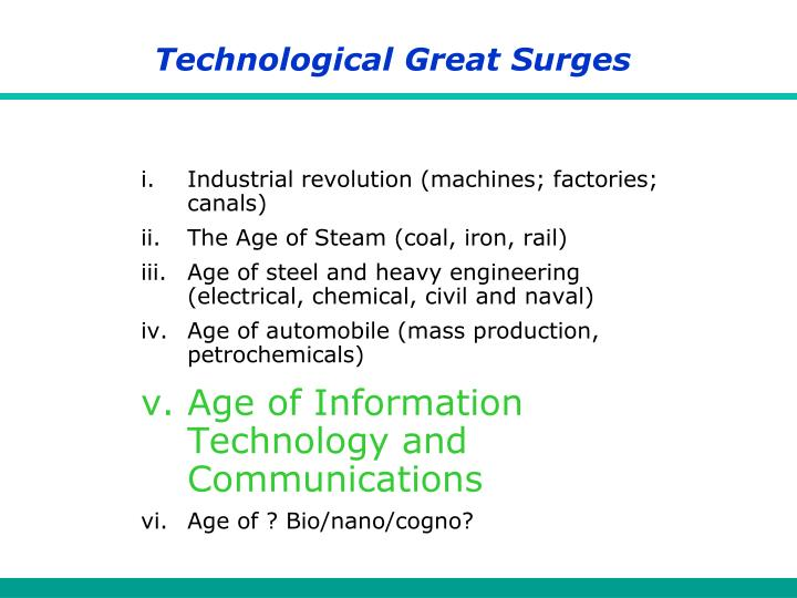 Technological Great Surges