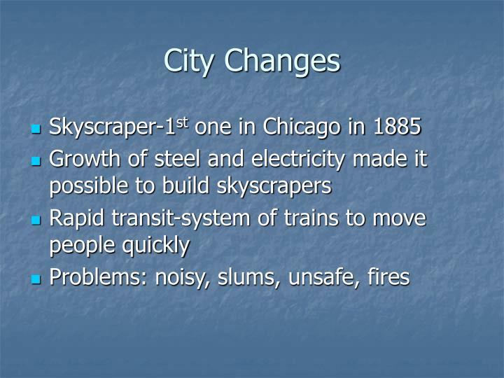 City Changes