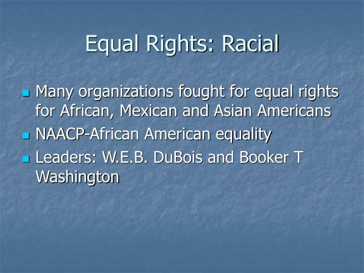 Equal Rights: Racial