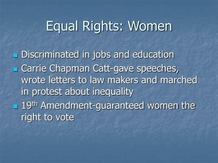 Equal Rights: Women