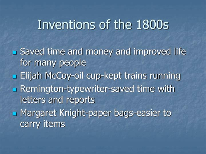 Inventions of the 1800s