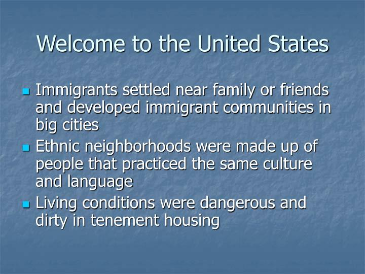 Welcome to the United States