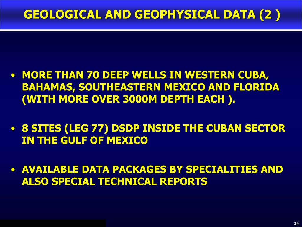 GEOLOGICAL AND GEOPHYSICAL DATA (2 )