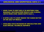 geological and geophysical data 2