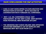 main conclusions for e p activities