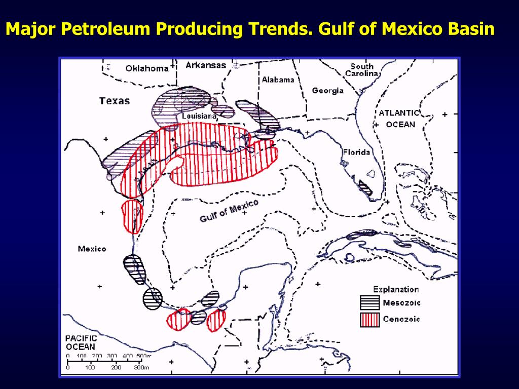 Major Petroleum Producing Trends. Gulf of Mexico Basin