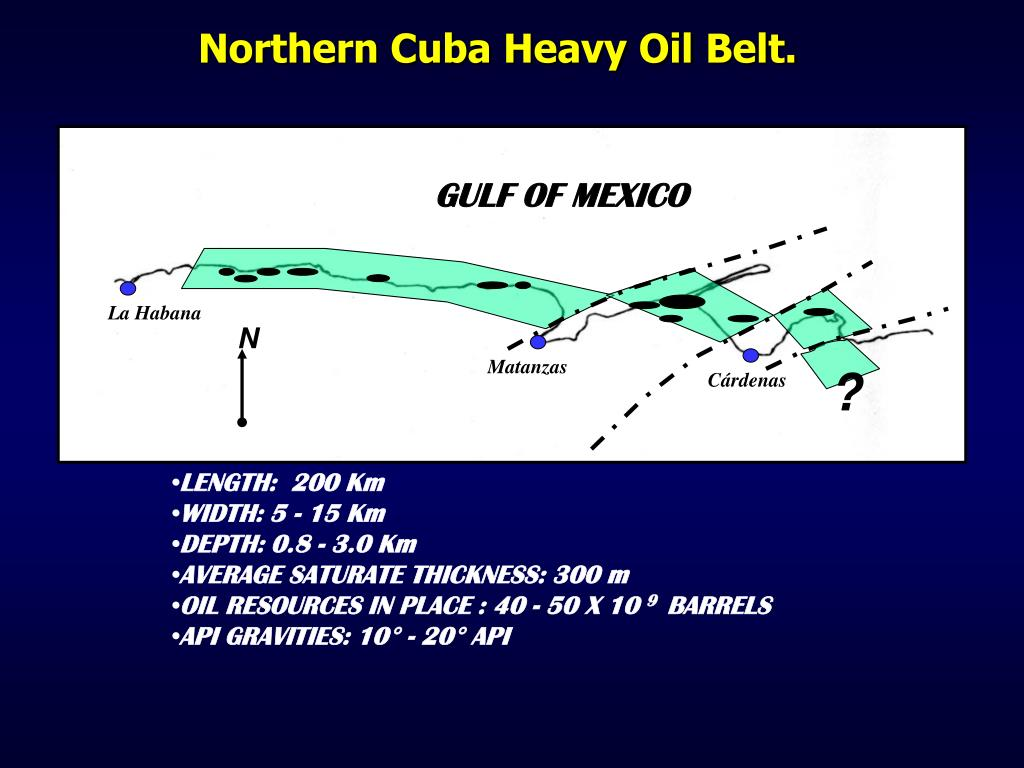 Northern Cuba Heavy Oil Belt.
