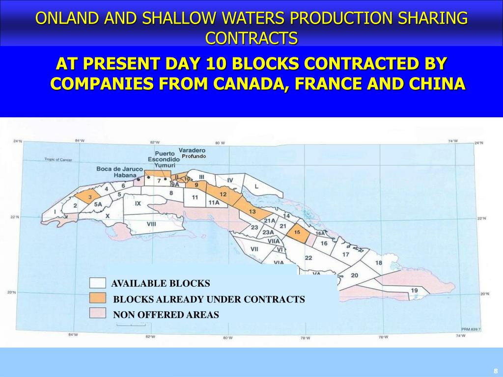 ONLAND AND SHALLOW WATERS PRODUCTION SHARING CONTRACTS