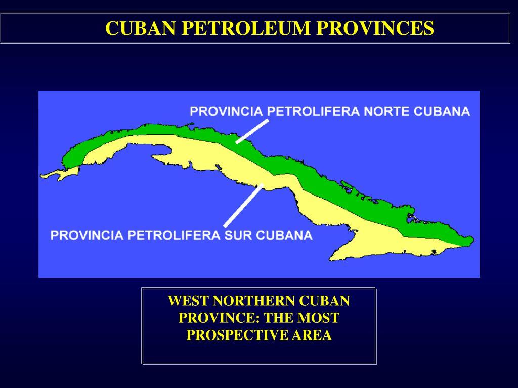 CUBAN PETROLEUM PROVINCES