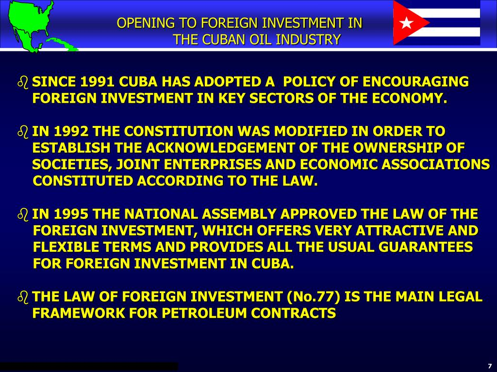 OPENING TO FOREIGN INVESTMENT IN