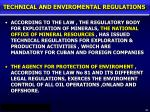 technical and enviromental regulations