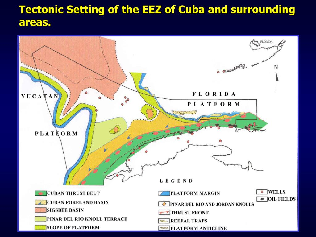 Tectonic Setting of the EEZ of Cuba and surrounding areas.