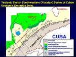 tectonic sketch southwestern yucatan sector of cuban economic exclusive zone