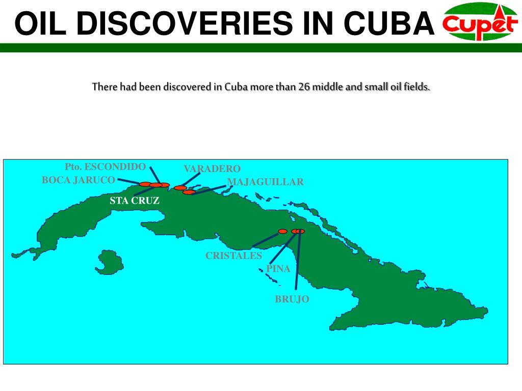 OIL DISCOVERIES IN CUBA