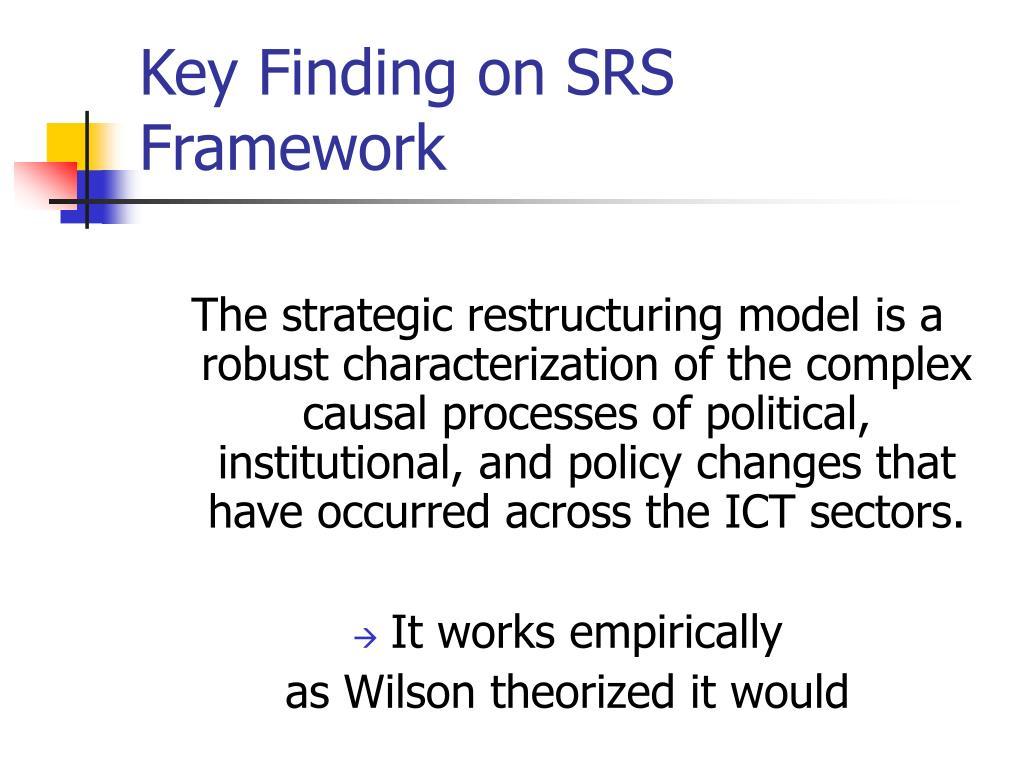Key Finding on SRS Framework