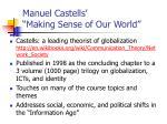 manuel castells making sense of our world