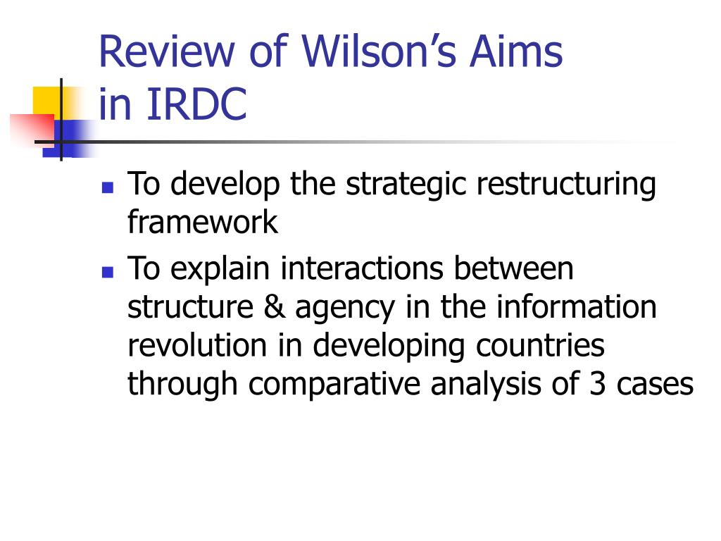 Review of Wilson's Aims