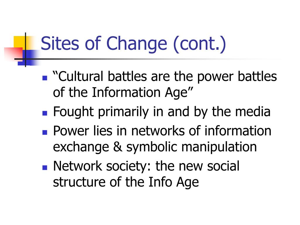 Sites of Change (cont.)