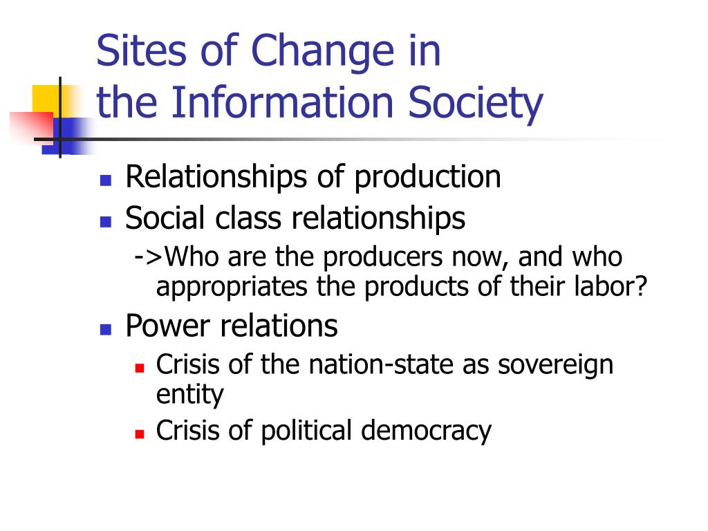 Sites of Change in