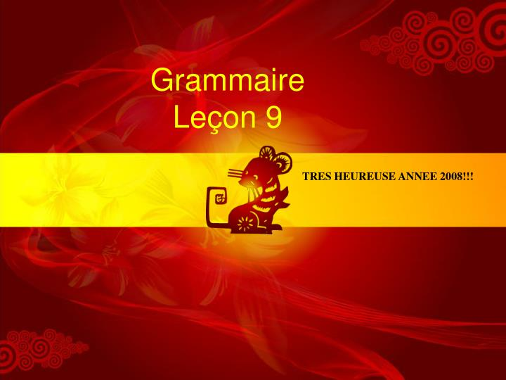 Grammaire le on 9