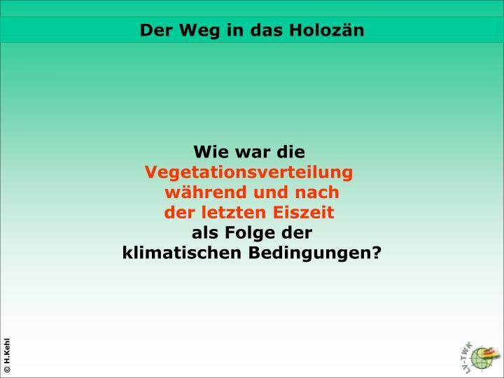 Der Weg in das Holozän