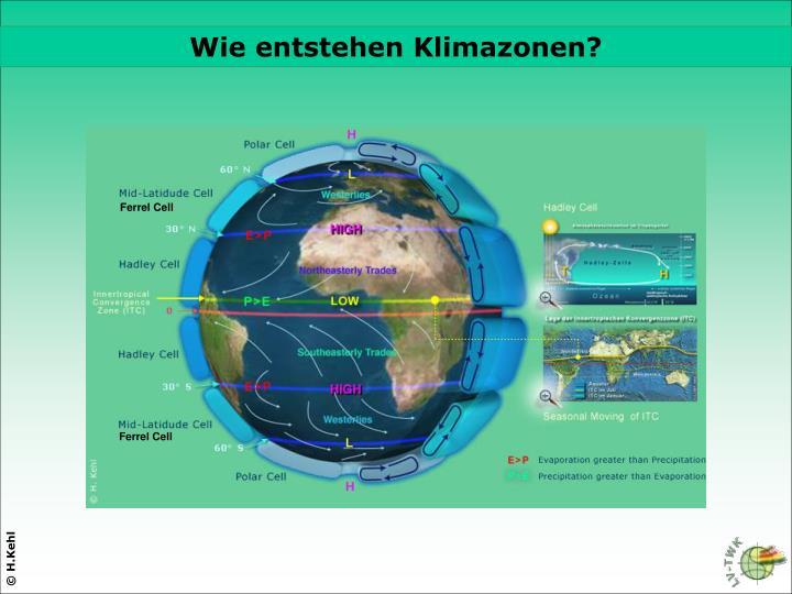 Wie entstehen Klimazonen?