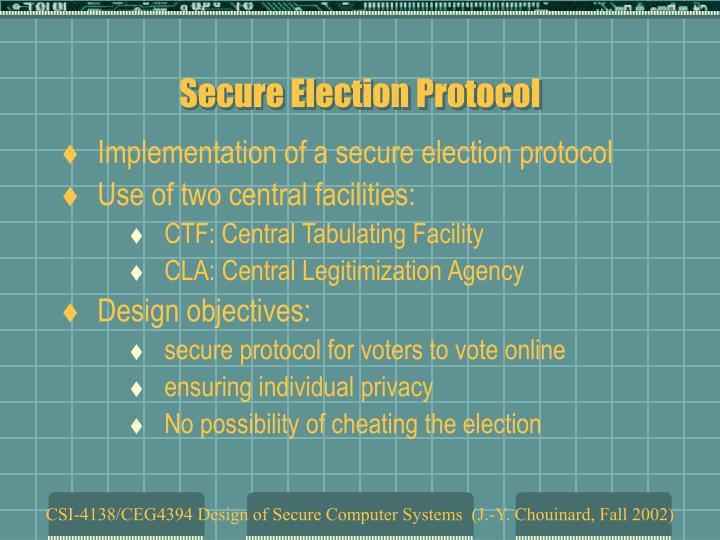 Secure election protocol