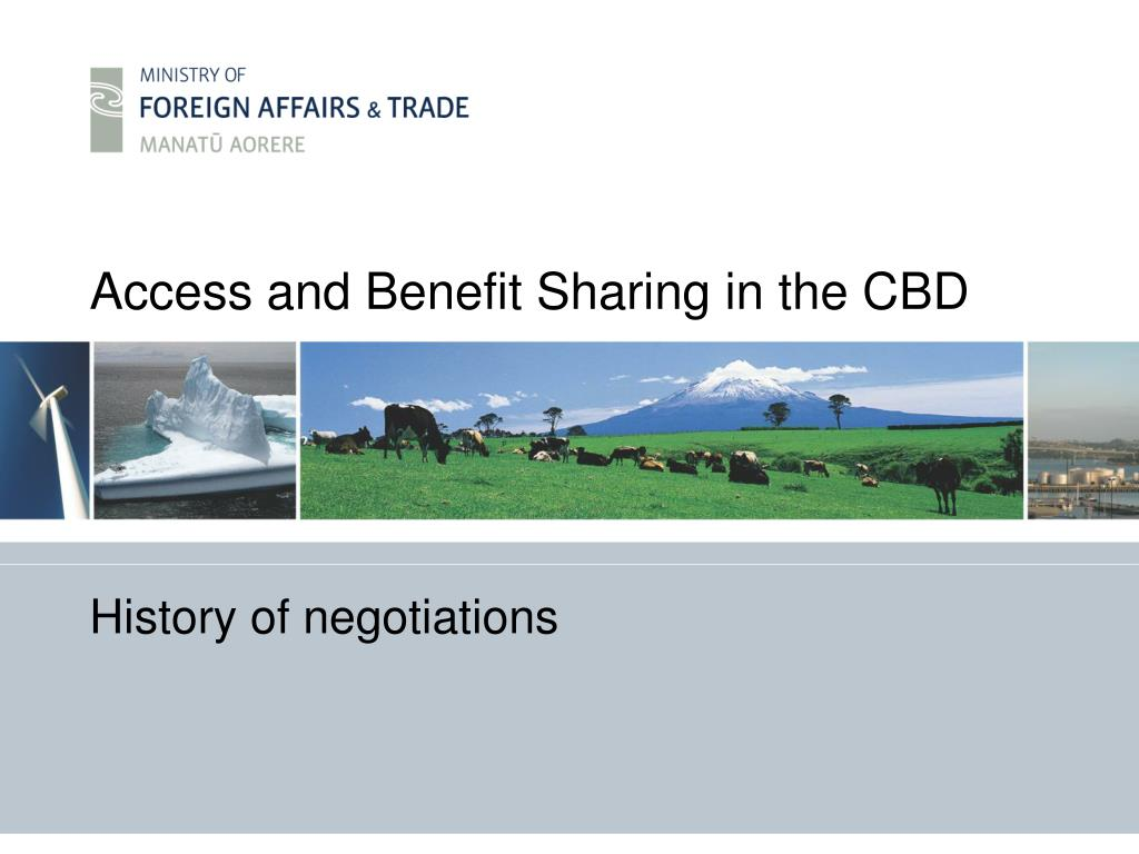 Access and Benefit Sharing in the CBD