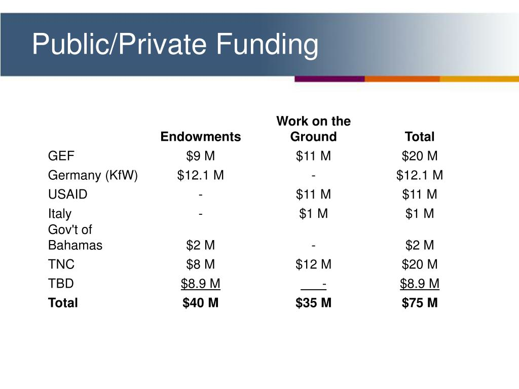 Public/Private Funding