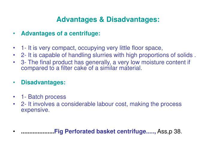 Advantages & Disadvantages: