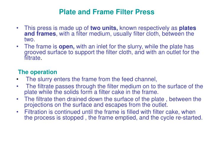 Plate and Frame