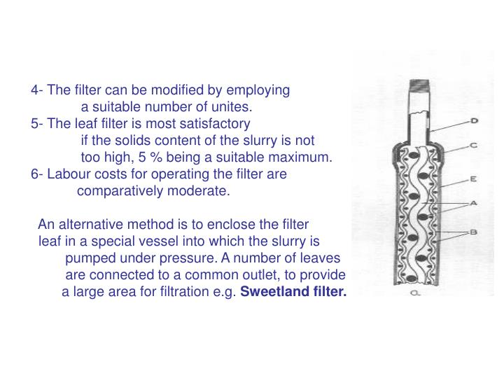 4- The filter can be modified by employing